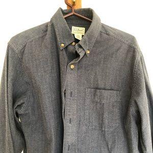 L.L. Bean Cotton Long Sleeve Button Up